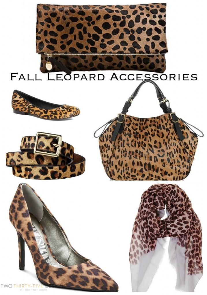 Fall Leopard Accessories