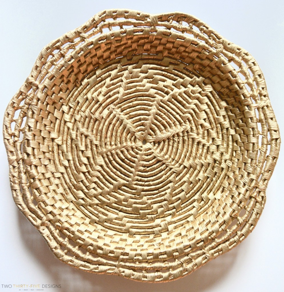 Vintage Woven Basket Hack by Two Thirty~Five Designs