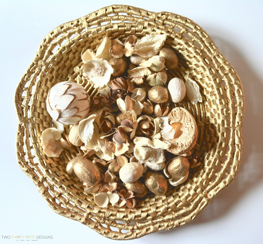 Vintage Woven Basket for Fall by Two Thirty~Five Designs