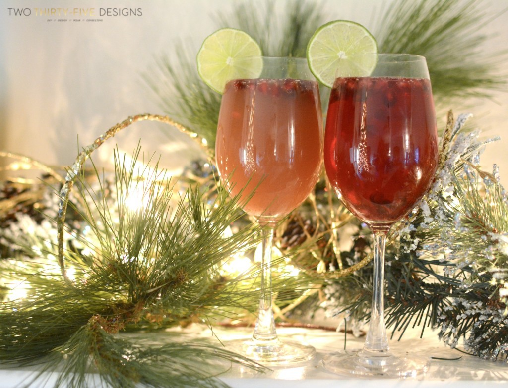 Pomegranate Mimosa's with Two Thirty~Five Designs