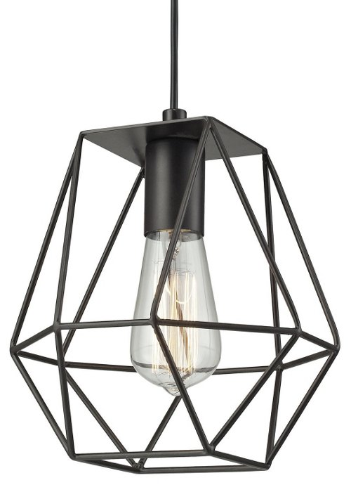 1-light pendant, bronze, modern industrial lighting