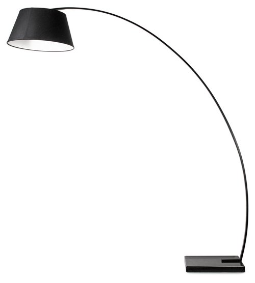rachel floor lamp, black, modern industrial lighting