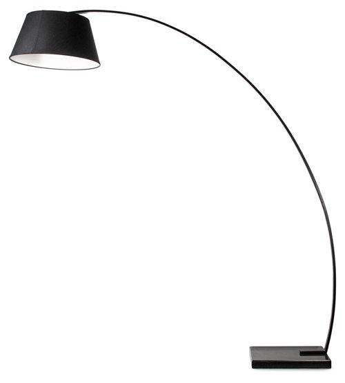 rachel floor lamp, black, modern industrial lighting