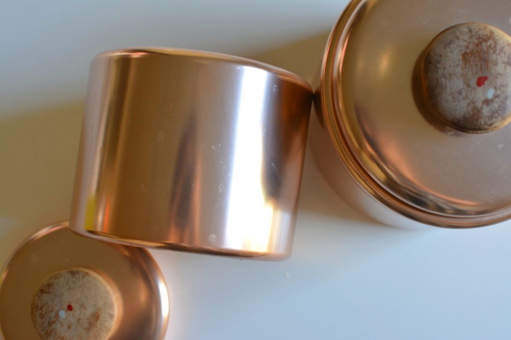 DIY Geometric Copper Pots