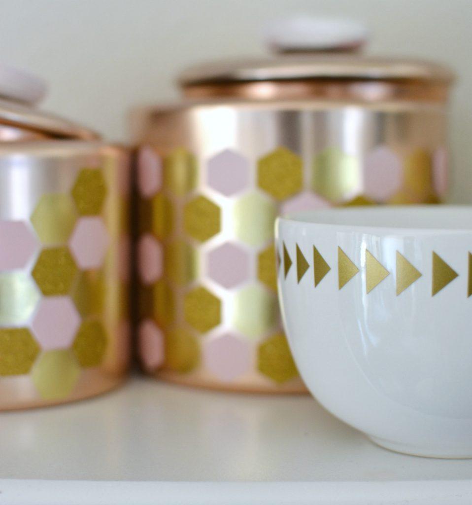 DIY Geometric Copper Pots 2
