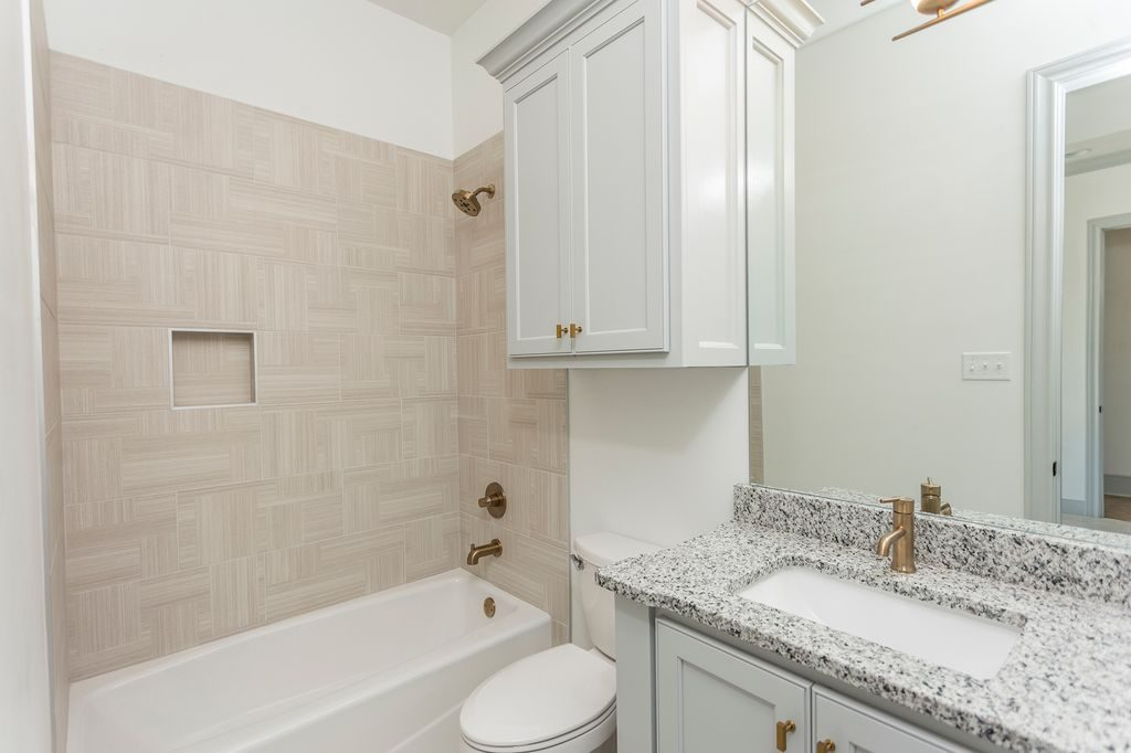 Enclave Court Home Tour, Guest Bathroom by Two Thirty Five Designs