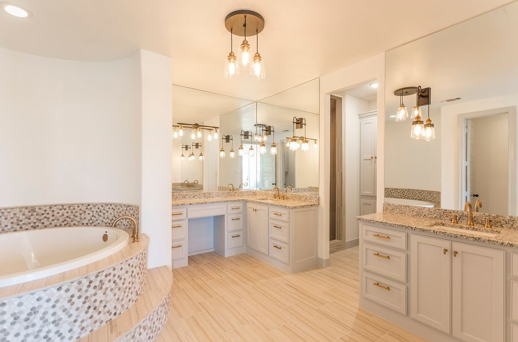 Enclave Court Home Tour, Master Bath by Two Thirty Five Designs
