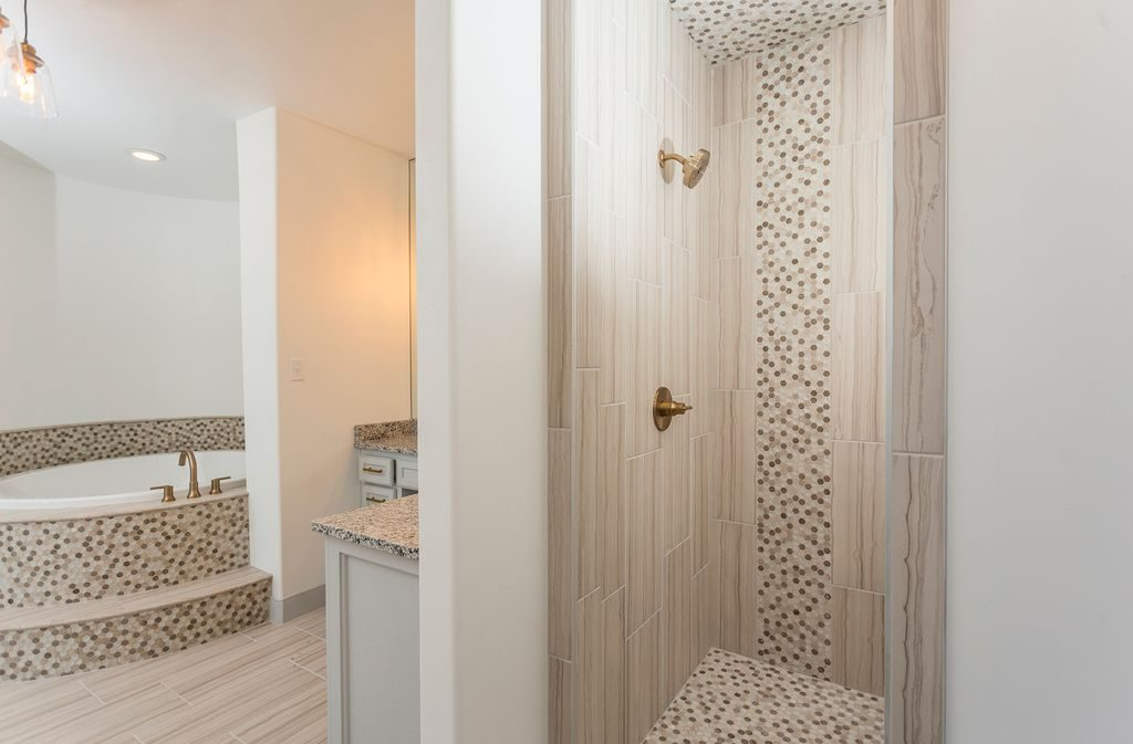 Enclave Court Home Tour, Master Shower by Two Thirty Five Designs