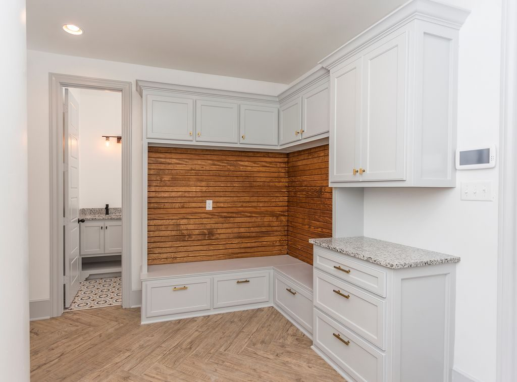 Enclave Court Home Tour, Modern Mudroom by Two Thirty Five Designs