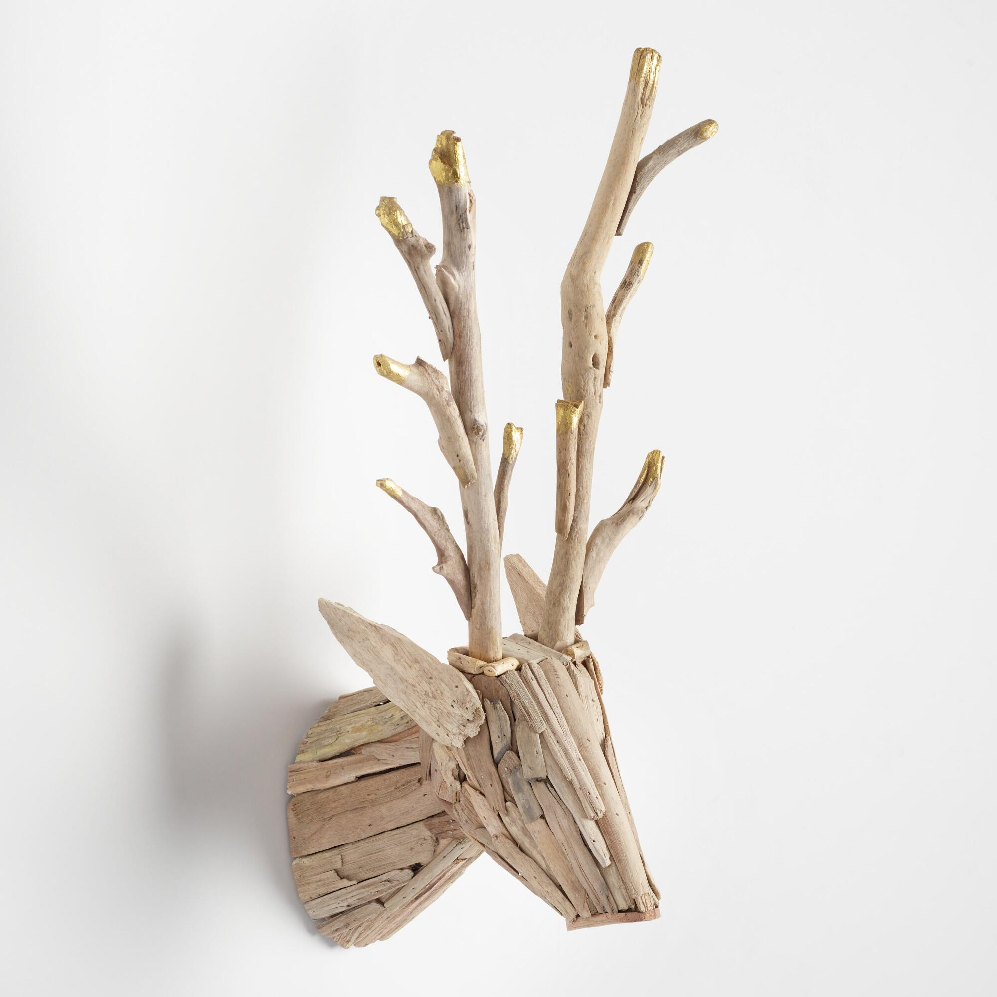 Ideal  XXX v Driftwood Stag Head Wall Decor