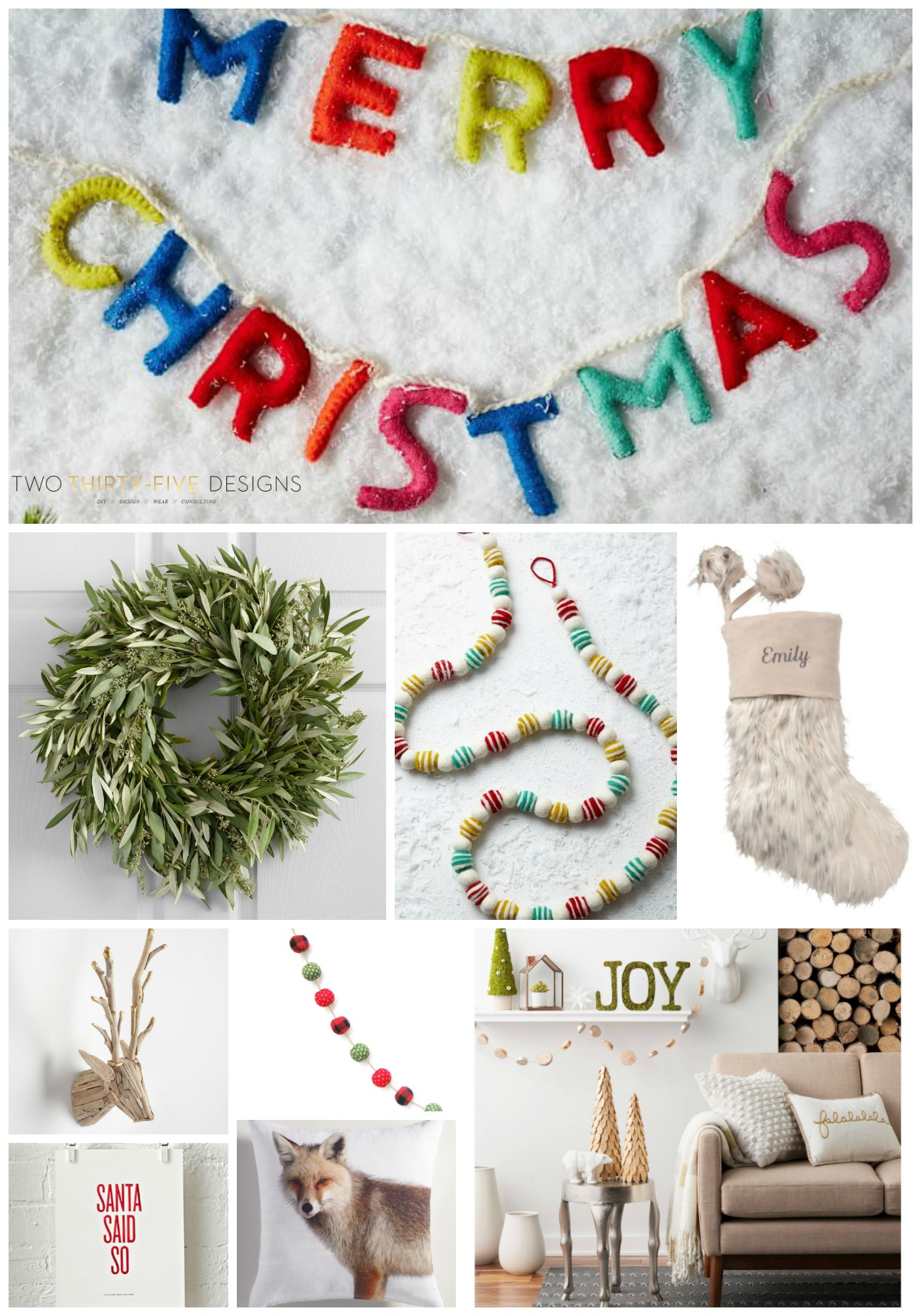 Top Ten Christmas Decor Items By Two Thirty Five Designs