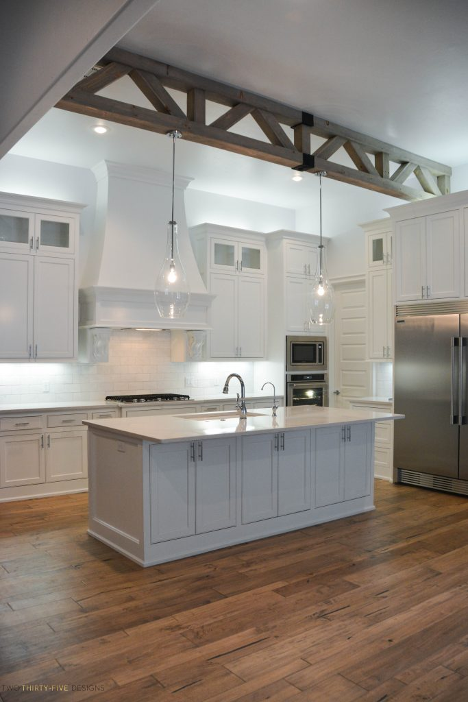 White And Grey Kitchen Cabinets Layout