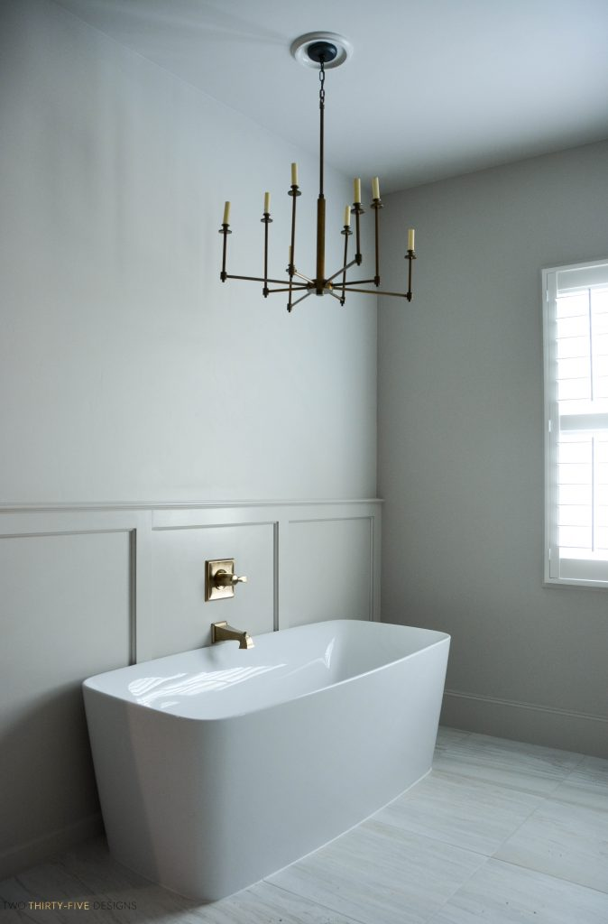 Rustic French Free Standing Bathtub by Two Thirty Five Designs
