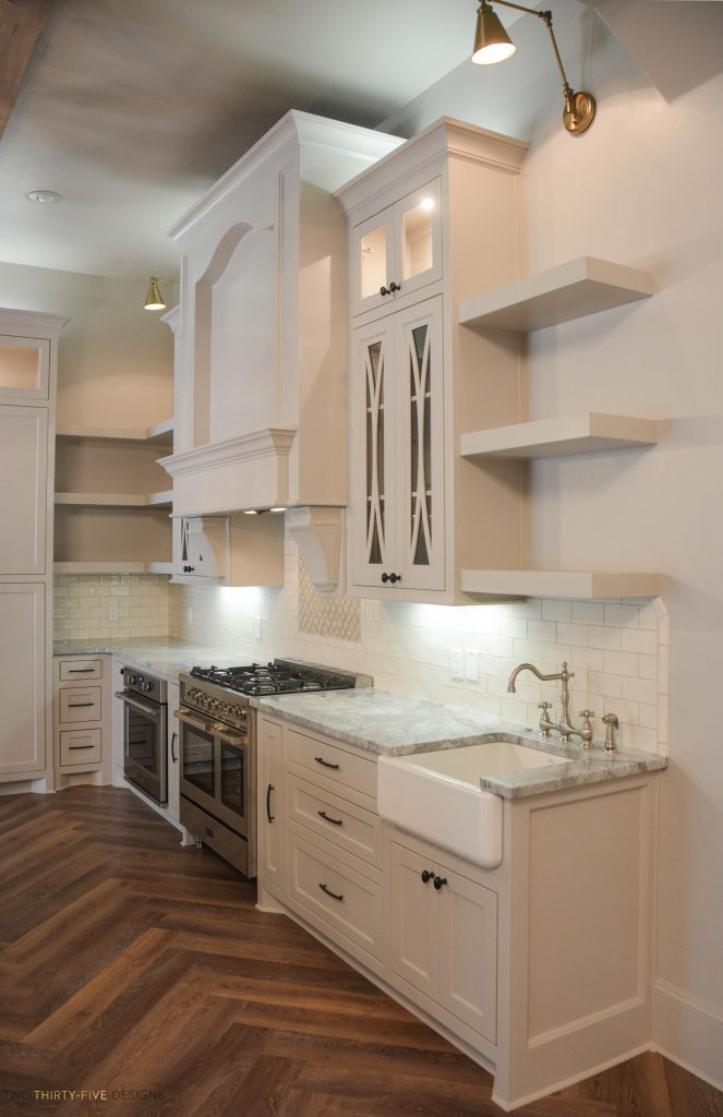 Rustic French Kitchen by Two Thirty Five Designs