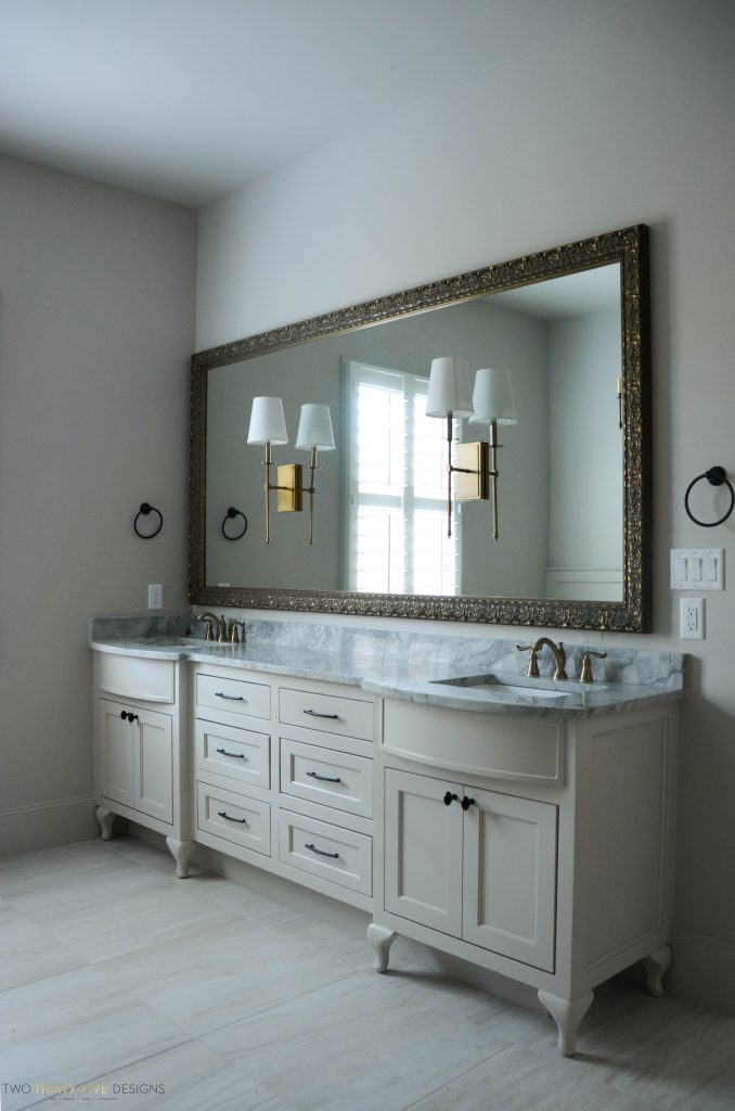 Rustic French Master Bath by Two Thirty Five Designs