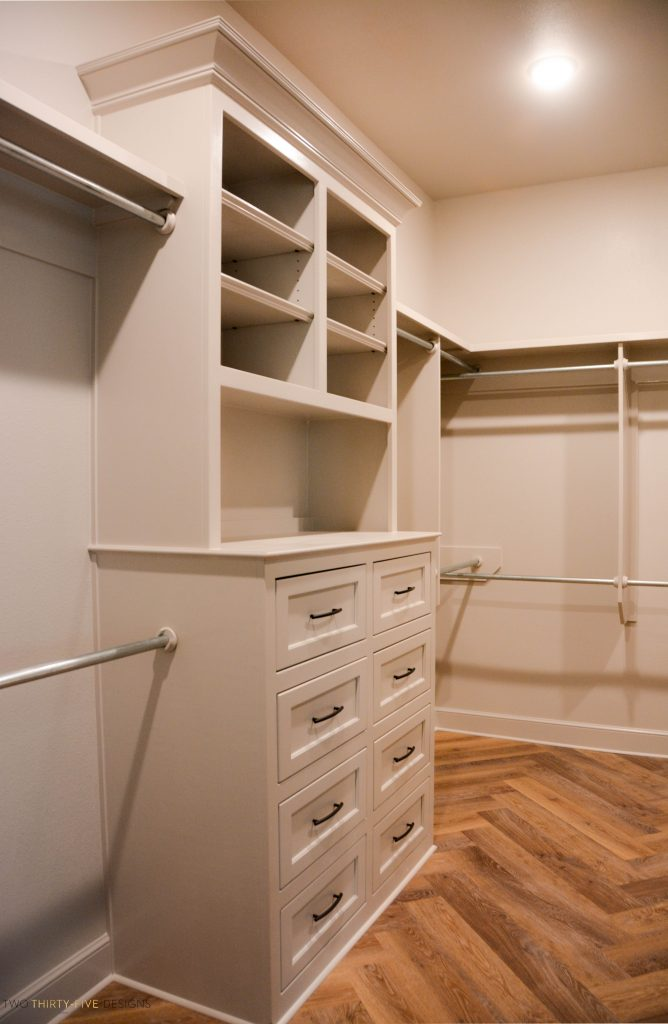 Rustic French Master Closet by Two Thirty Five Designs