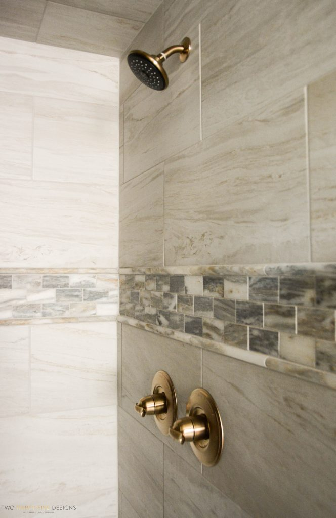 Rustic French Master Shower by Two Thirty Five Designs