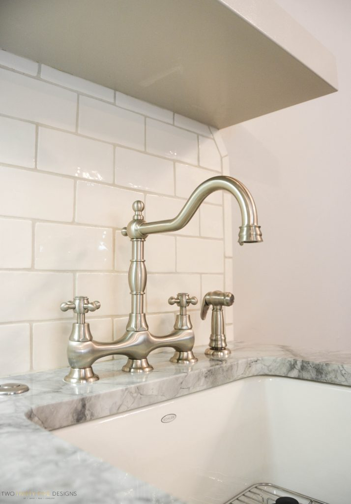 Rustic French Mudroom Faucet by Two Thirty Five Designs