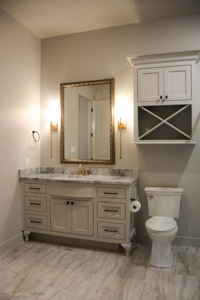 Rustic French Powder Bath by Two Thirty Five Designs