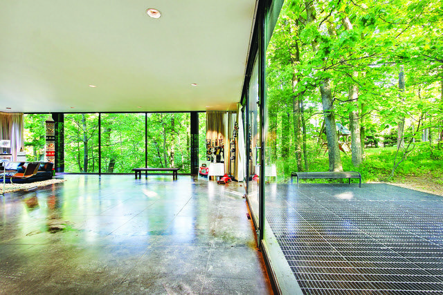 Ferris Buellers Modern Architecture Sliding Glass Doors by Two Thirty Five Designs