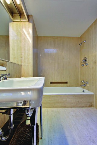 Ferris Buellers Modern Bathroom by Two Thirty Five Designs