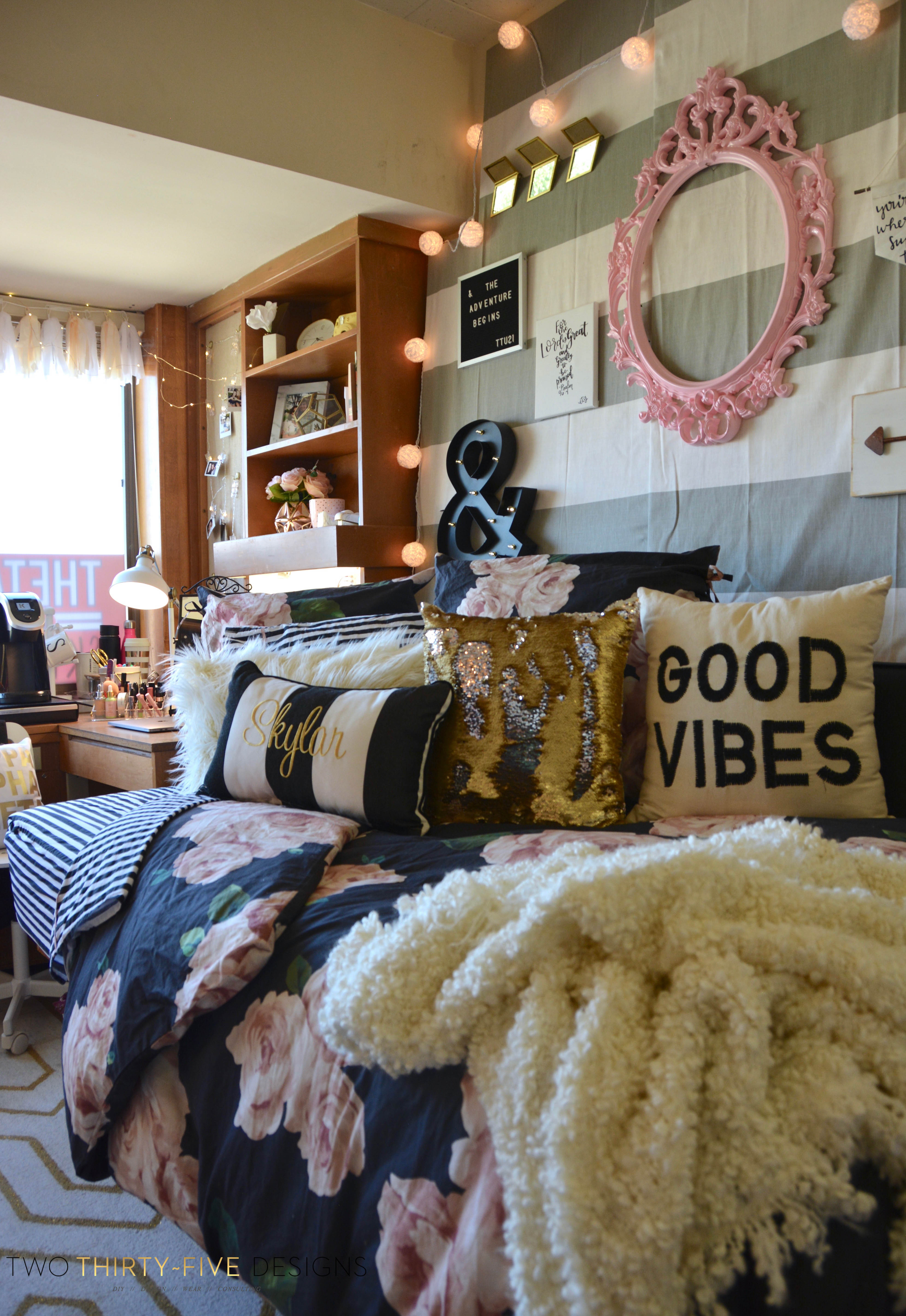 Texas Tech Chitwood Dorm Room Makeover Two Thirty Five